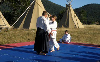 Aiki'Tipi baton maitre eleve tipis aikido