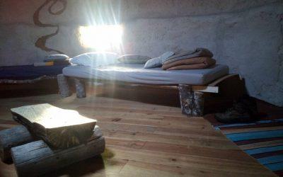 interieur écohutte lit une place